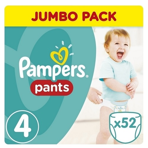 Pampers Jumbo Pack Pants Pant-Pants No 4 (9-15kg) 52pcs