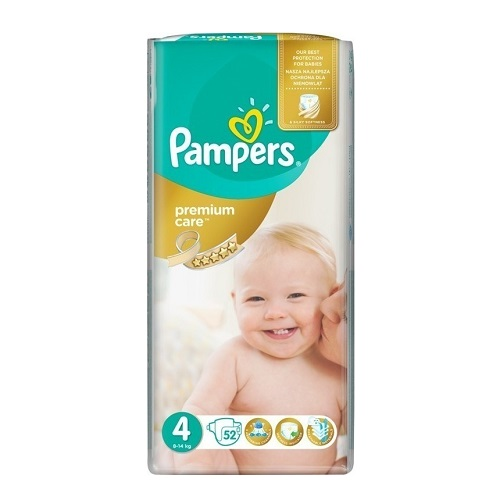 Pampers Premium Care No 4 (8-14kg) 52 τμχ
