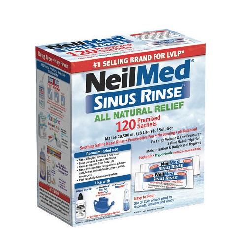 NeilMed Sinus Rinse Spare parts, 120 sachets