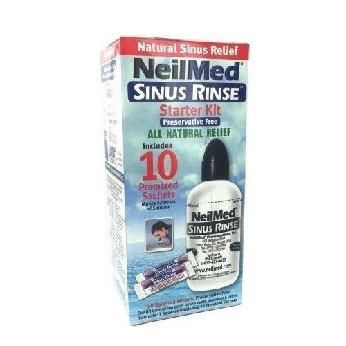 NeilMed Sinus Rinse Starter Kit Device + 10 Sachets
