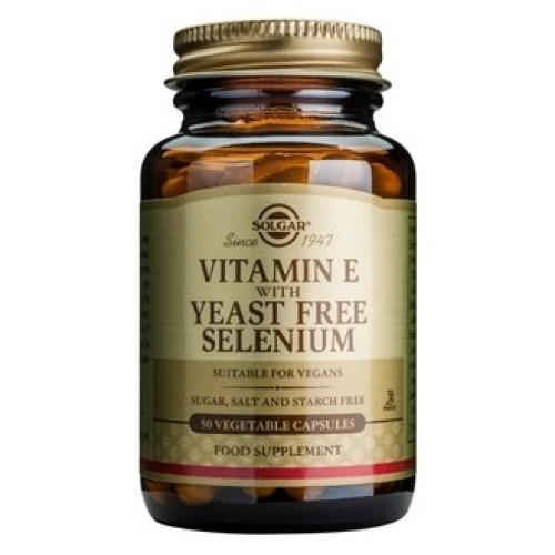 Solgar Vitamin E + Selenium 50 herbal capsules