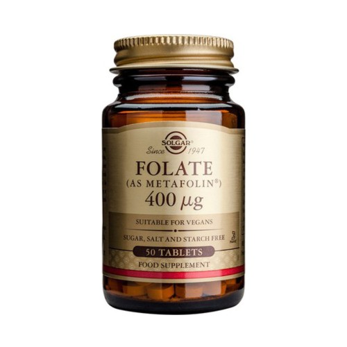 Solgar Folate as Metafolin 400mg 50tabs