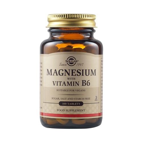 Solgar Magnesium with Vitamin B6 100tabs