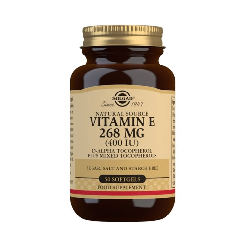 Solgar Vitamin E 268mg 400iu 50 Soft Capsules