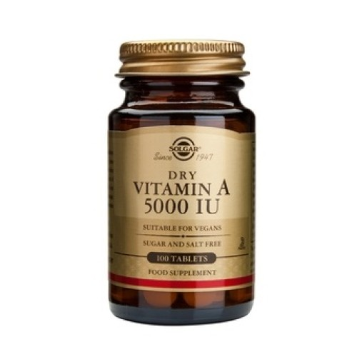 Solgar Vitamin A 5000 IU 100 tablets