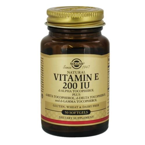 Solgar Vitamin E 200IU 50 soft capsules