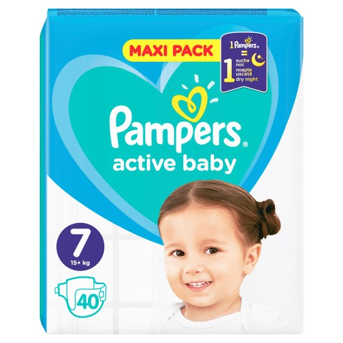 Pampers Active Baby Maxi Pack No 7 (15+kg) 40pcs