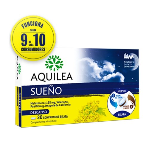Aquilea Sueno Food Supplement for Relaxation & Sleep 30 tablets